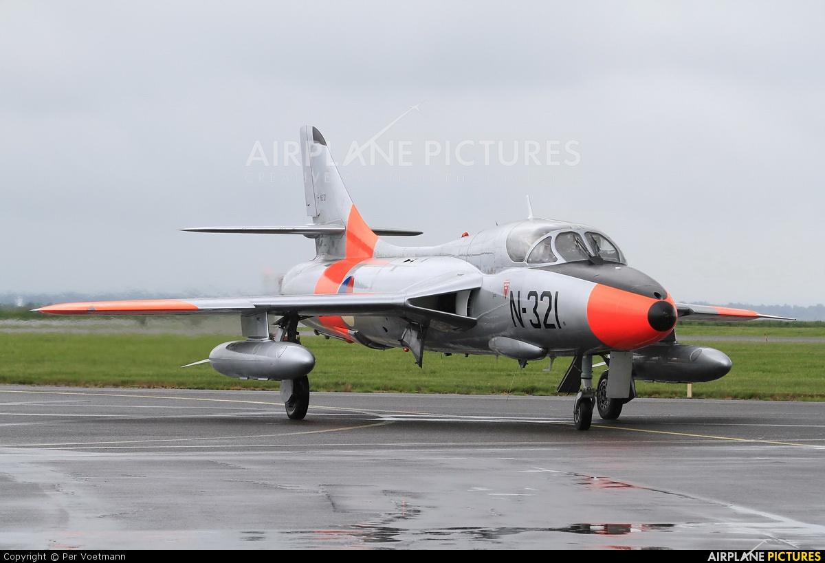 Dutch Hawker Hunter Foundation G-BWGL aircraft at Aalborg