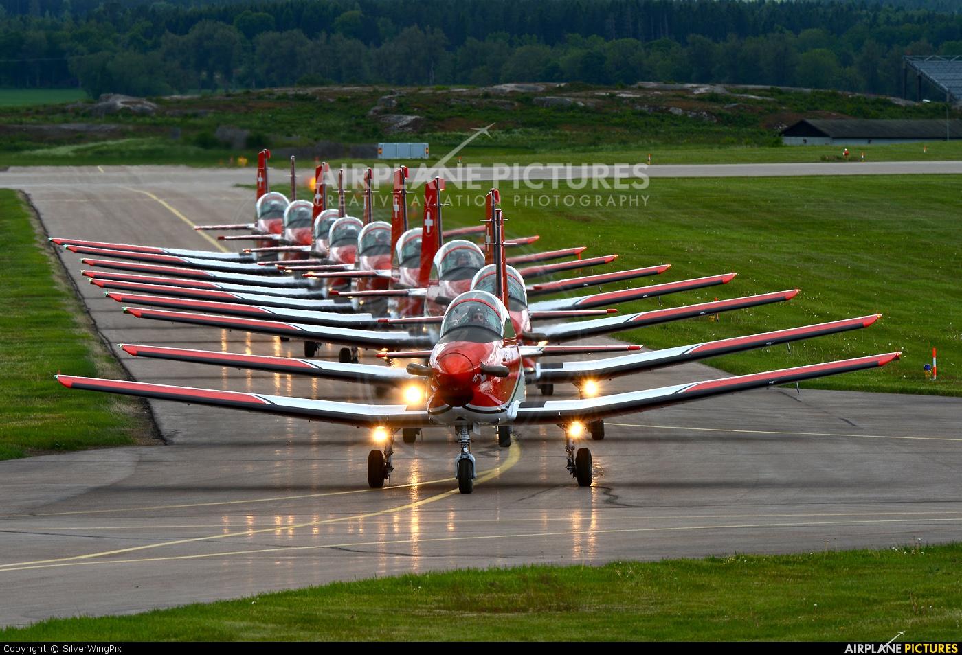 Switzerland - Air Force: PC-7 Team A-940 aircraft at Malmen