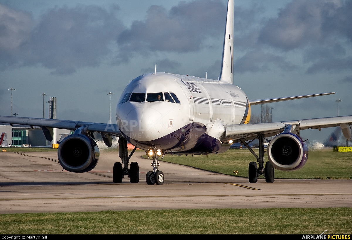 Monarch Airlines G-OZBH aircraft at Manchester