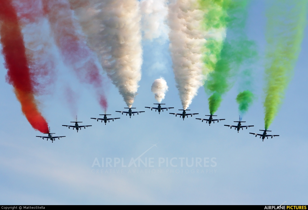 """Italy - Air Force """"Frecce Tricolori"""" MM54480 aircraft at Off Airport - Italy"""