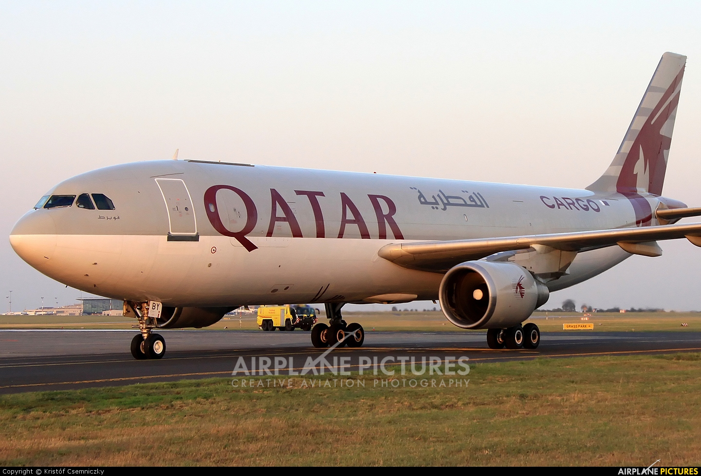 Qatar Airways Cargo A7-ABY aircraft at Budapest Ferenc Liszt International Airport