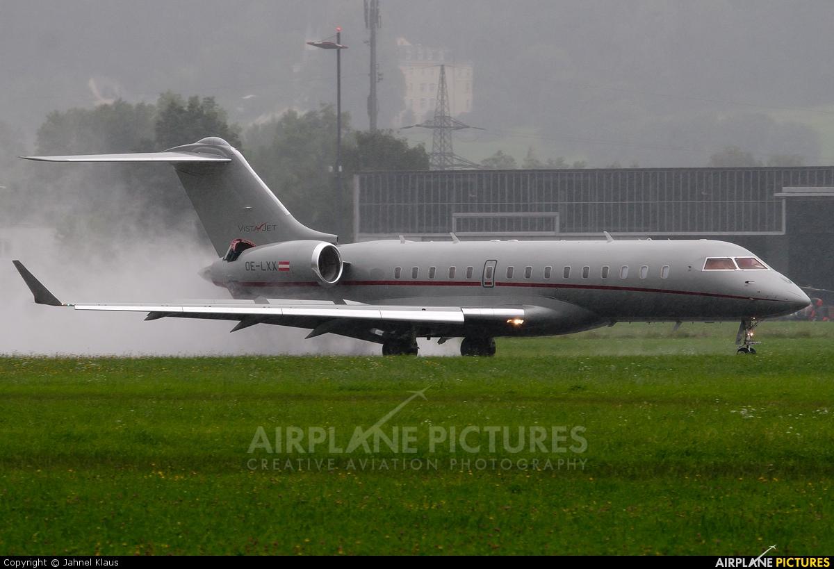 Vistajet OE-LXX aircraft at Innsbruck