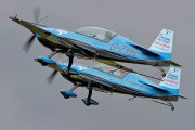 """G-ZXEL - 2 Excel Aviation """"The Blades Aerobatic Team"""" Extra 300L, LC, LP series aircraft"""