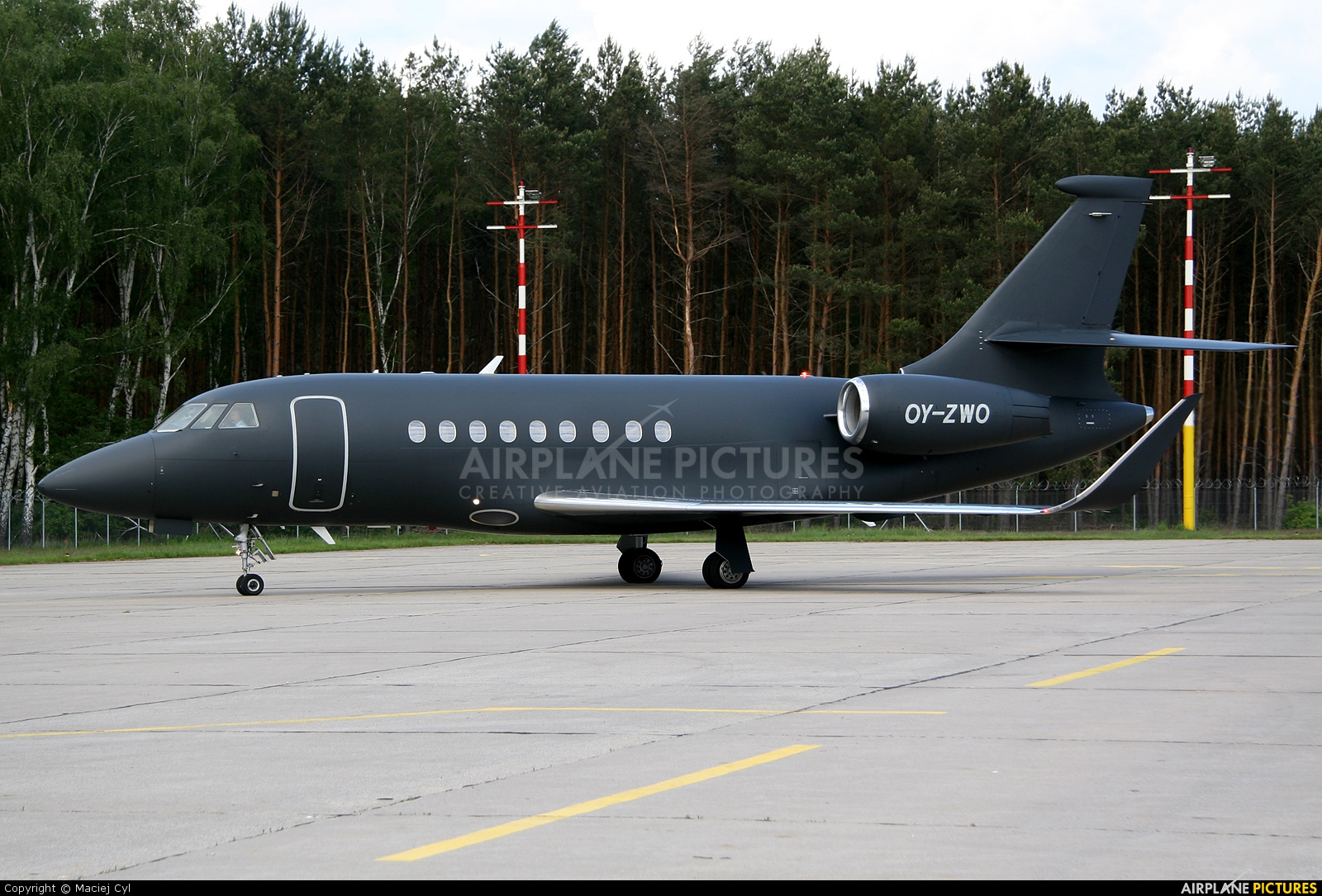 Air Alsie OY-ZWO aircraft at Babimost