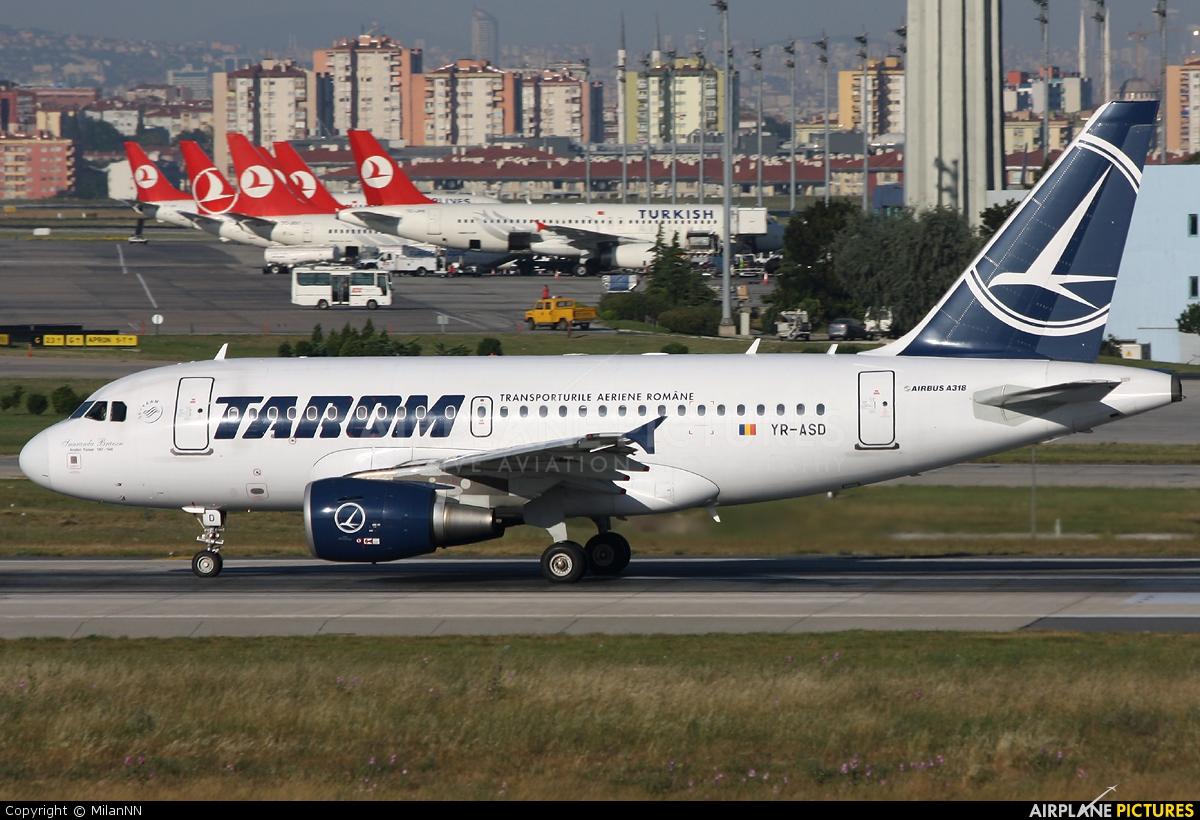 Tarom YR-ASD aircraft at Istanbul - Ataturk