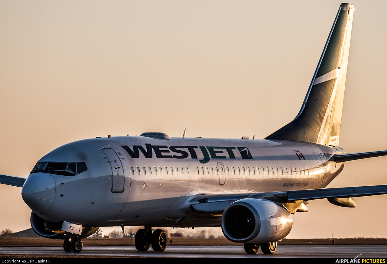 WestJet Airlines C-FMWJ aircraft at Ottawa - Macdonald-Cartier Intl, ON