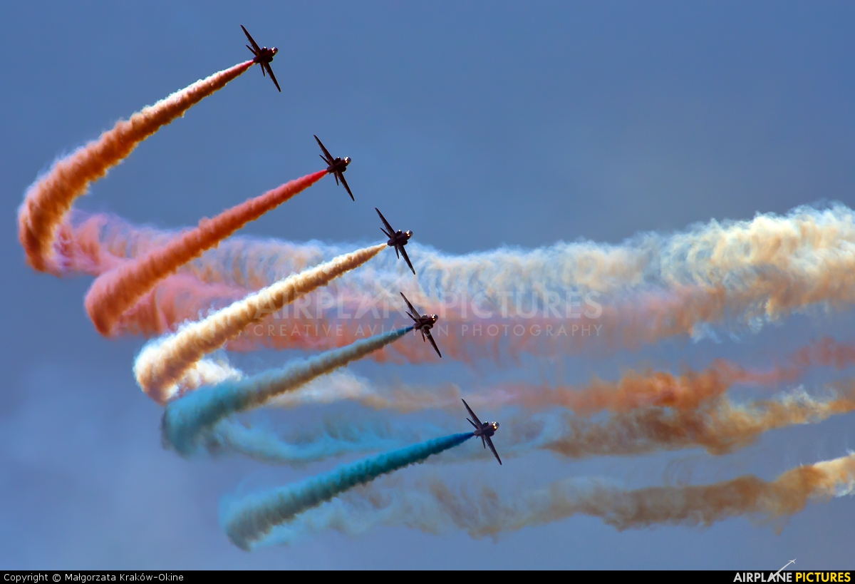 "Royal Air Force ""Red Arrows"" XX319 aircraft at Radom - Sadków"