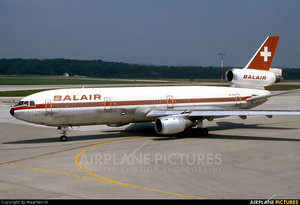 Balair HB-IHK aircraft at Geneva Intl