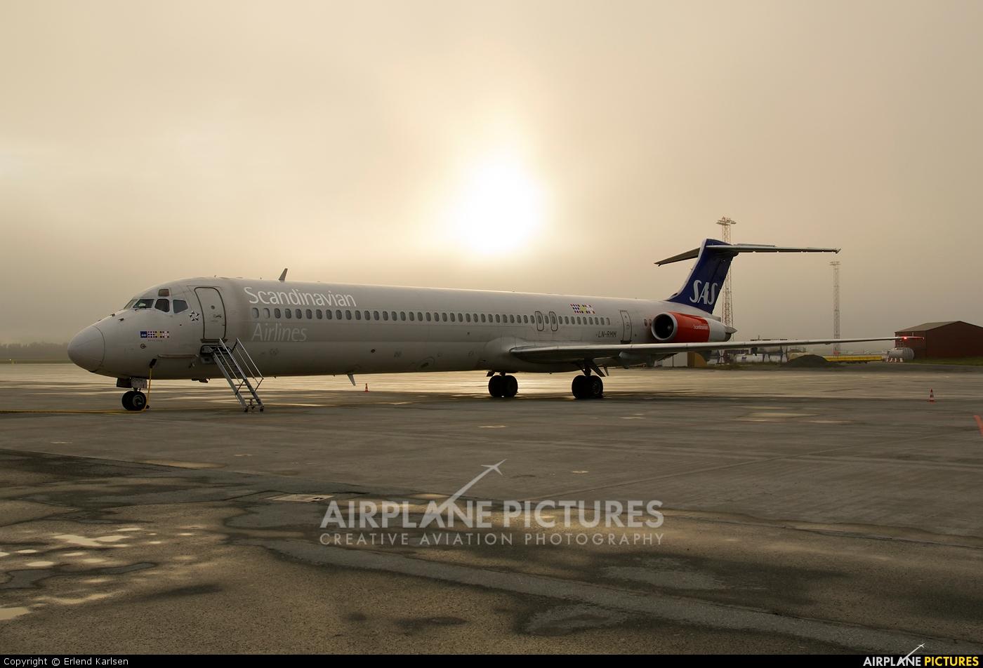 SAS - Scandinavian Airlines LN-RMM aircraft at Trondheim - Vaernes