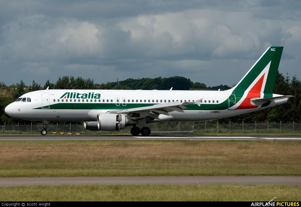 Alitalia I-BIKC aircraft at Edinburgh