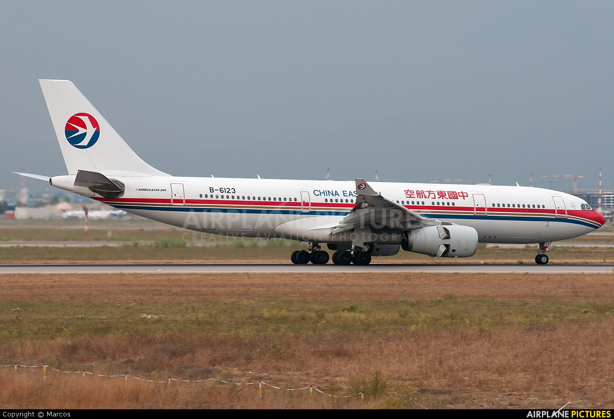 China Eastern Airlines B-6123 aircraft at Rome - Fiumicino