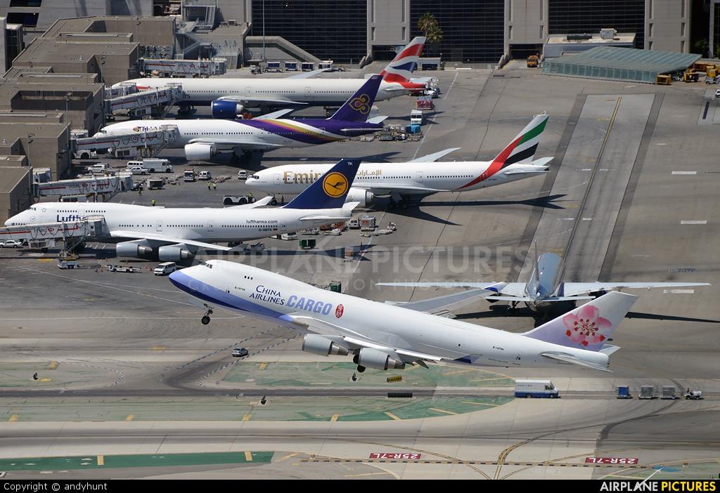 China Airlines Cargo B-18706 aircraft at Los Angeles Intl