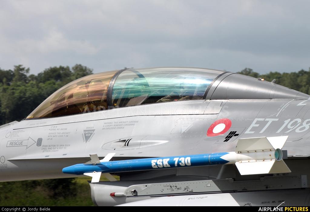 Denmark - Air Force ET-198 aircraft at Florennes