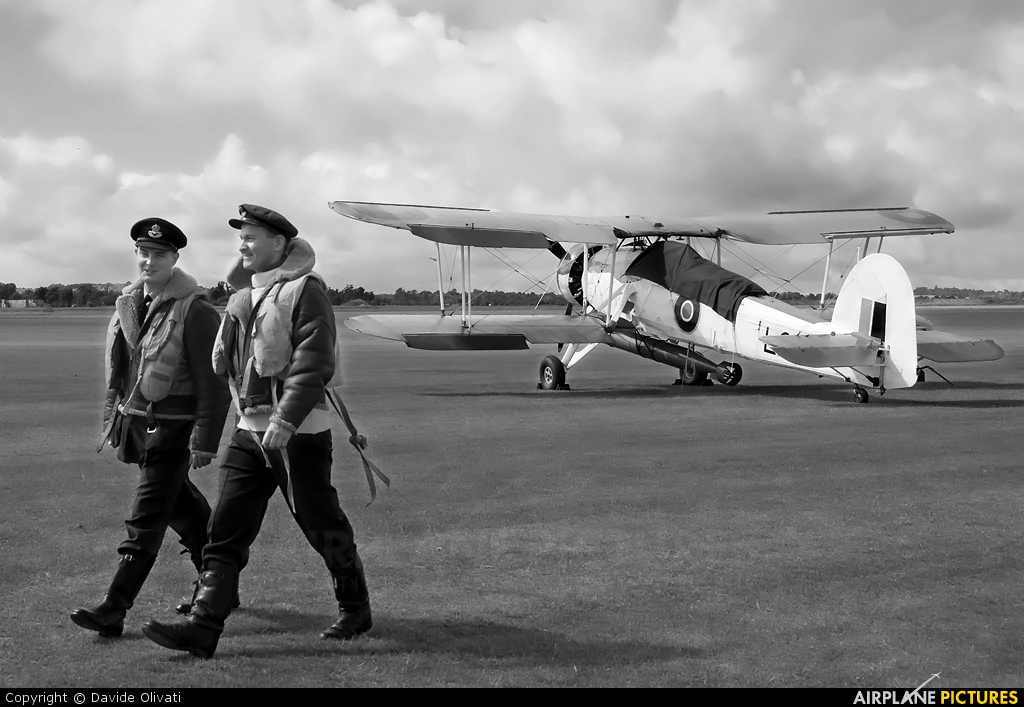 """Royal Navy """"Historic Flight"""" LS326 aircraft at Duxford"""