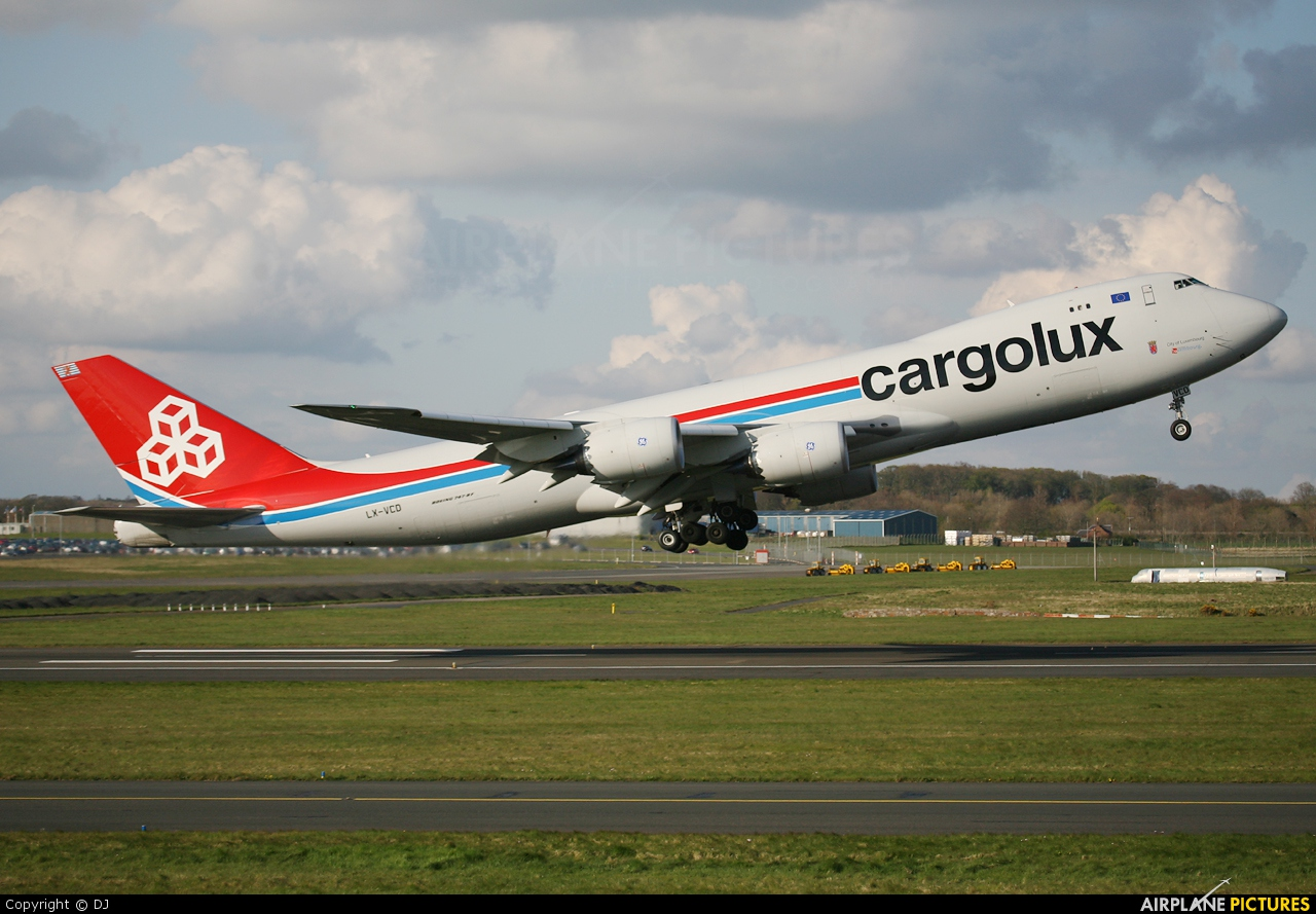 Cargolux LX-VCD aircraft at Prestwick