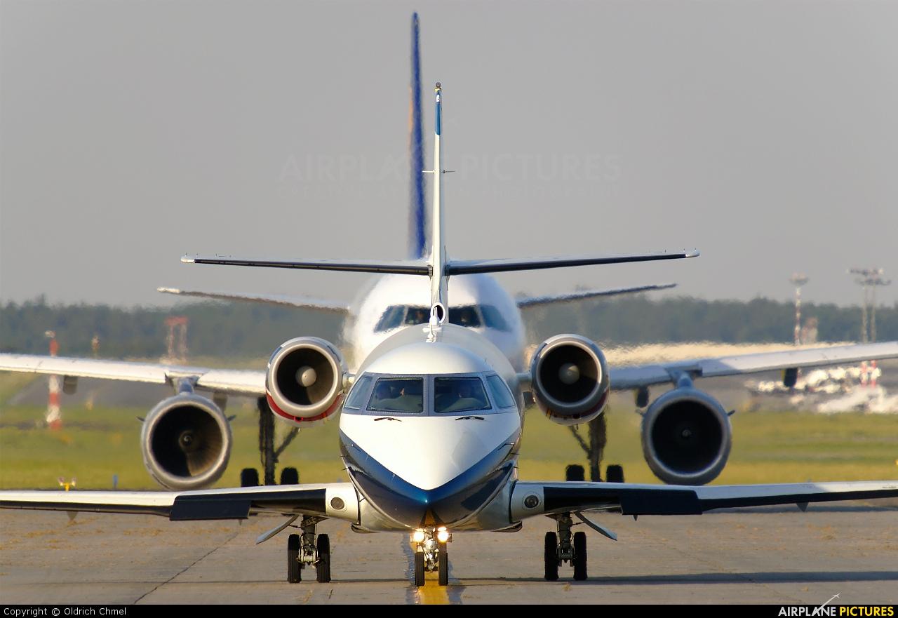 Ion Tiriac Air YR-TII aircraft at Prague - Václav Havel