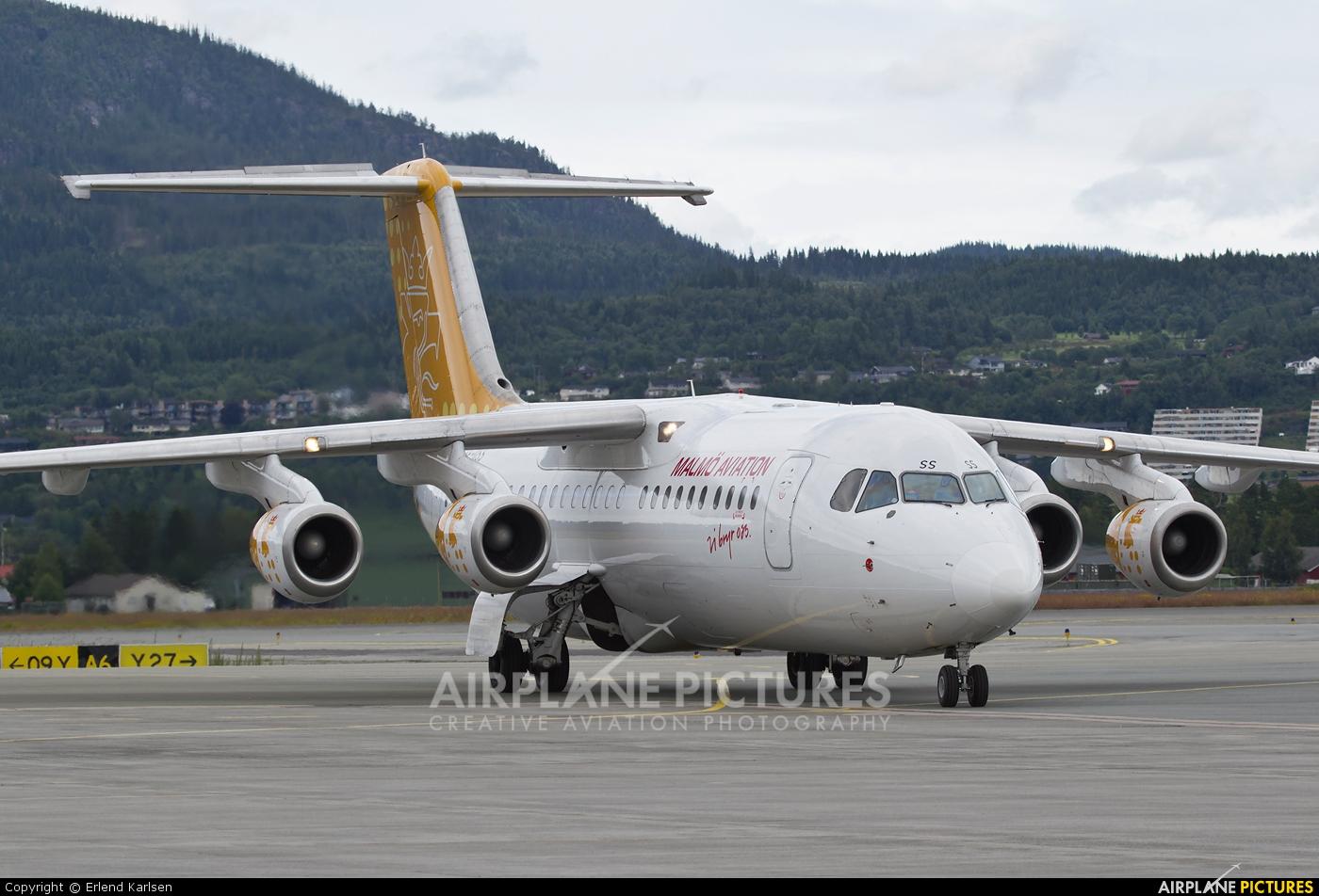 Malmo Aviation SE-DSS aircraft at Trondheim - Vaernes