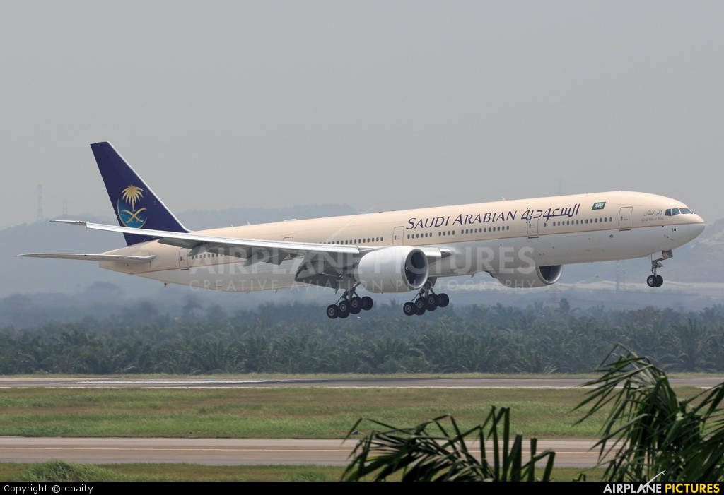 Saudi Arabian Airlines HZ-AK14 aircraft at Kuala Lumpur Intl