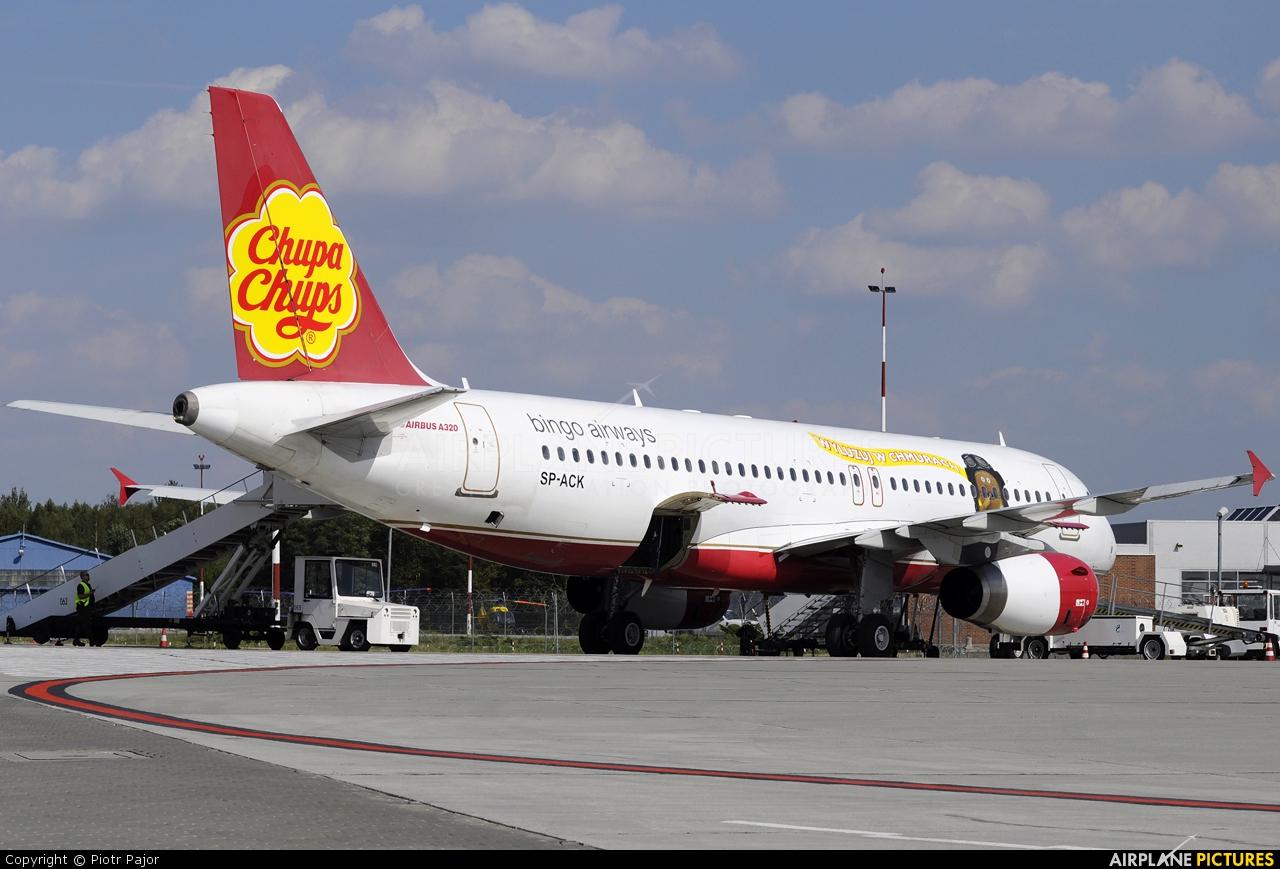 Bingo Airways SP-ACK aircraft at Łódź - Lublinek