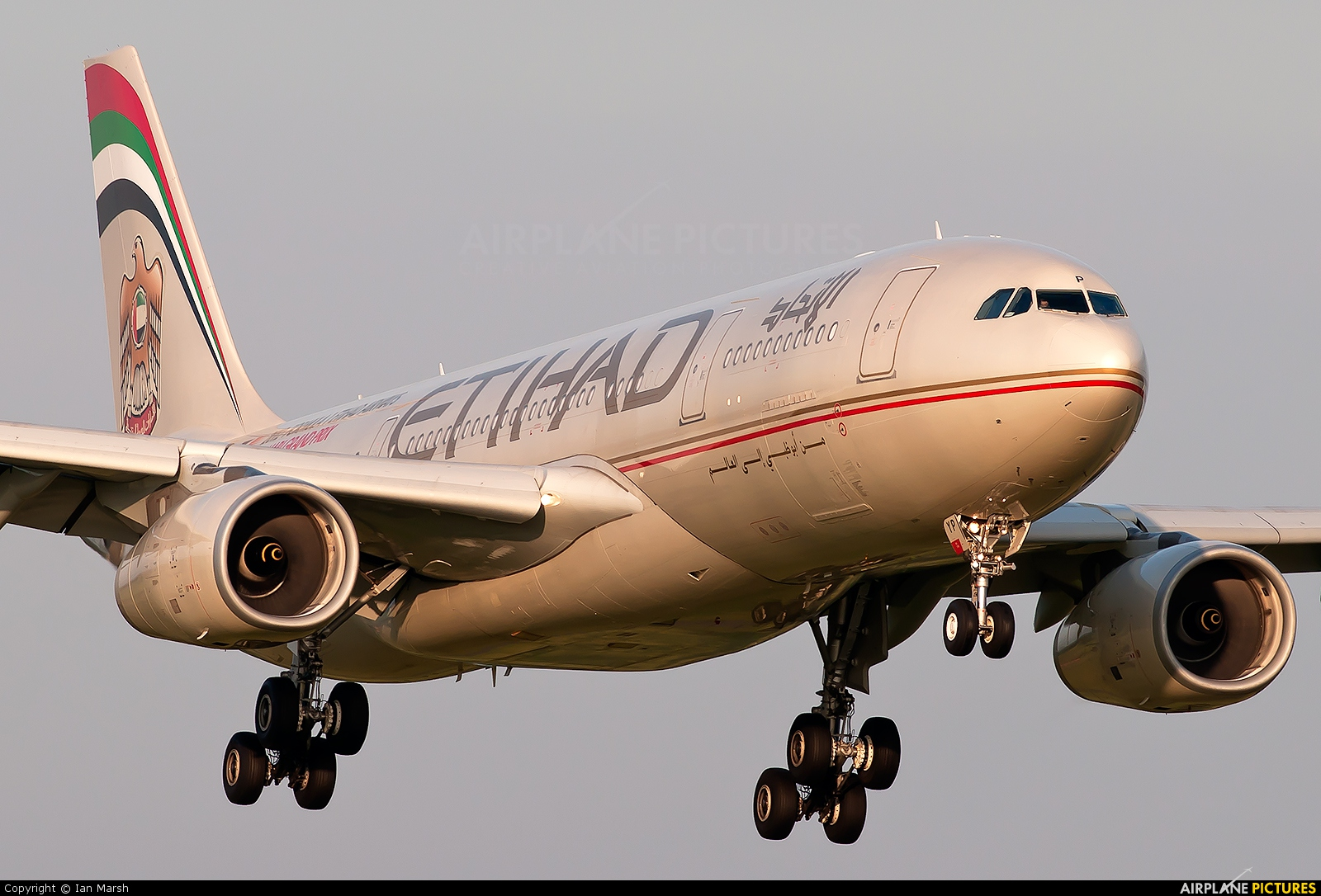 Etihad Airways A6-EYP aircraft at Manchester