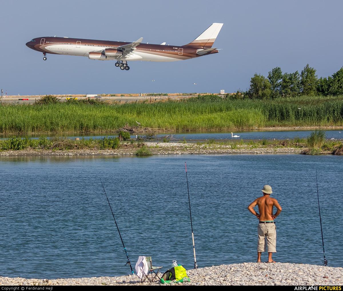 Global Jet Luxembourg M-IABU aircraft at Nice - Cote d