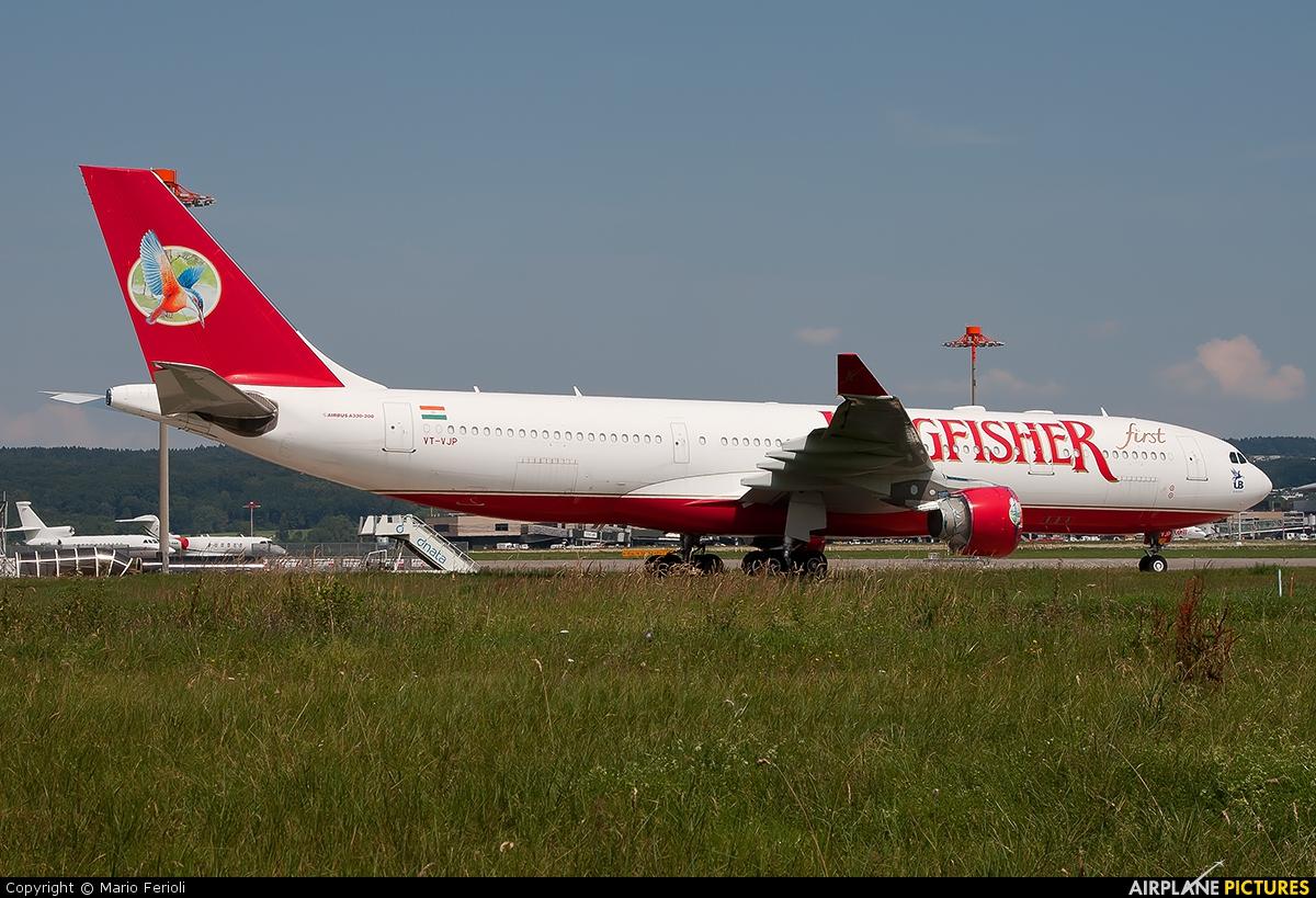 Kingfisher Airlines VT-VJP aircraft at Zurich