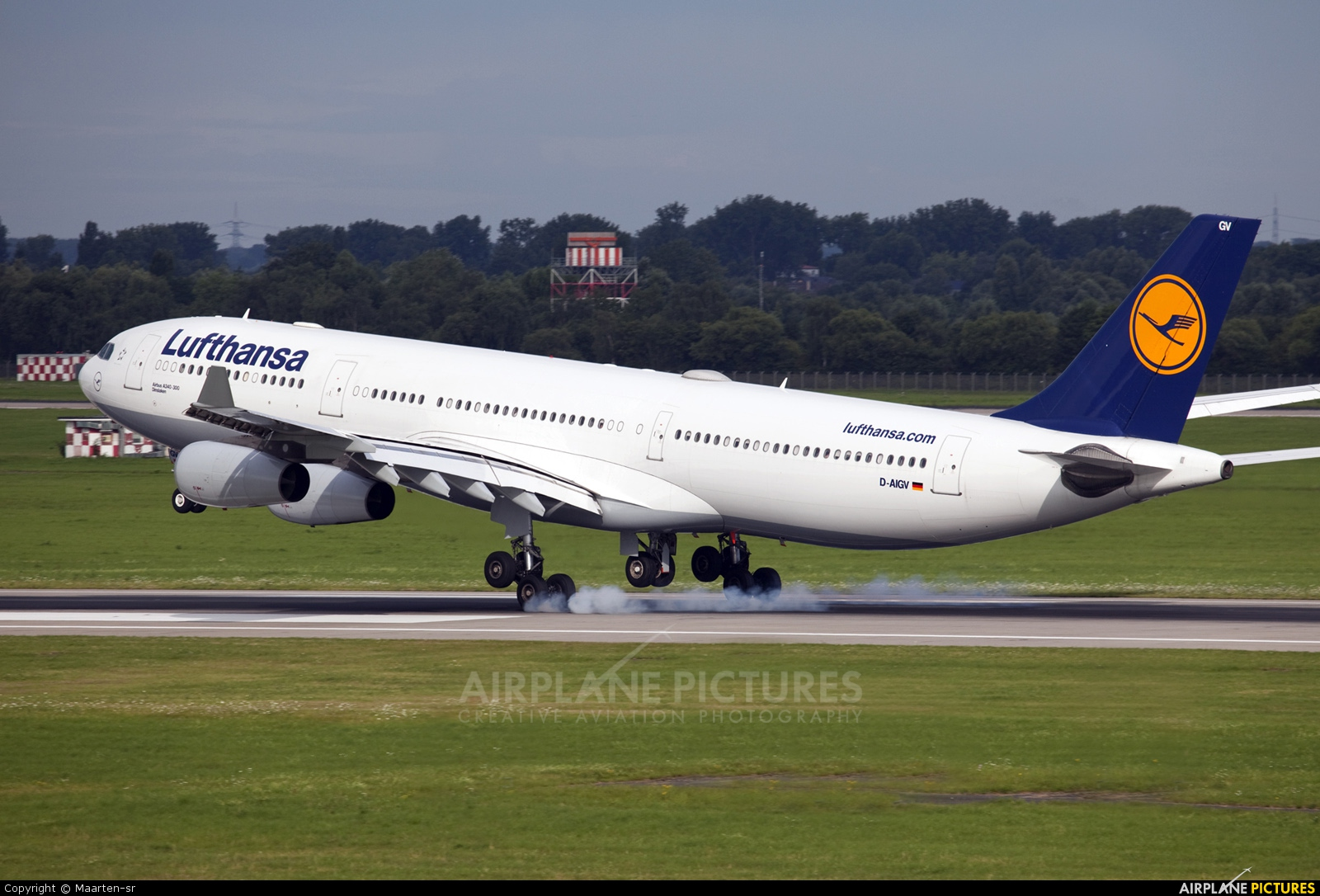 d aigv lufthansa airbus a340 300 at d sseldorf photo id 229379 airplane. Black Bedroom Furniture Sets. Home Design Ideas