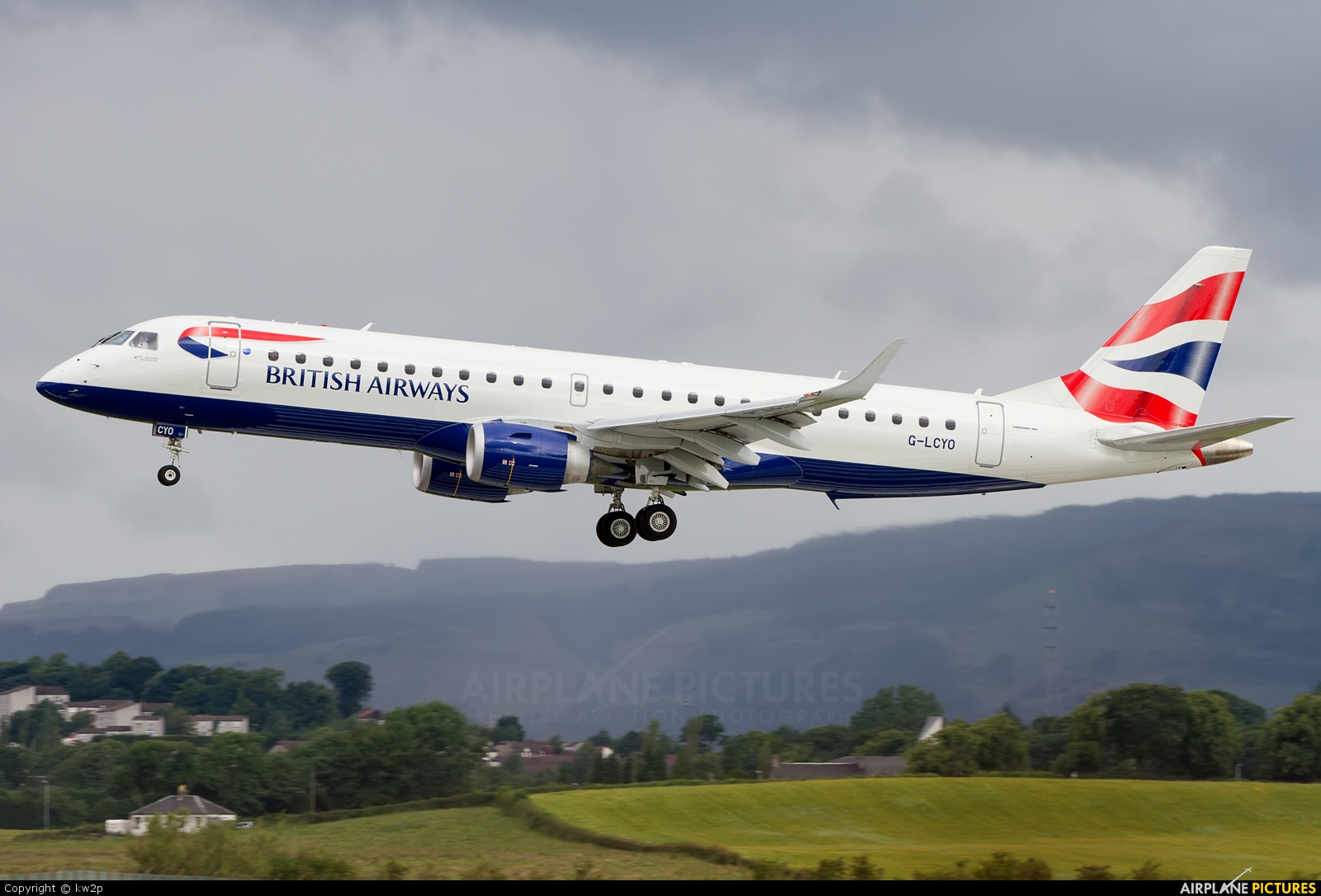 British Airways - City Flyer G-LCYO aircraft at Glasgow
