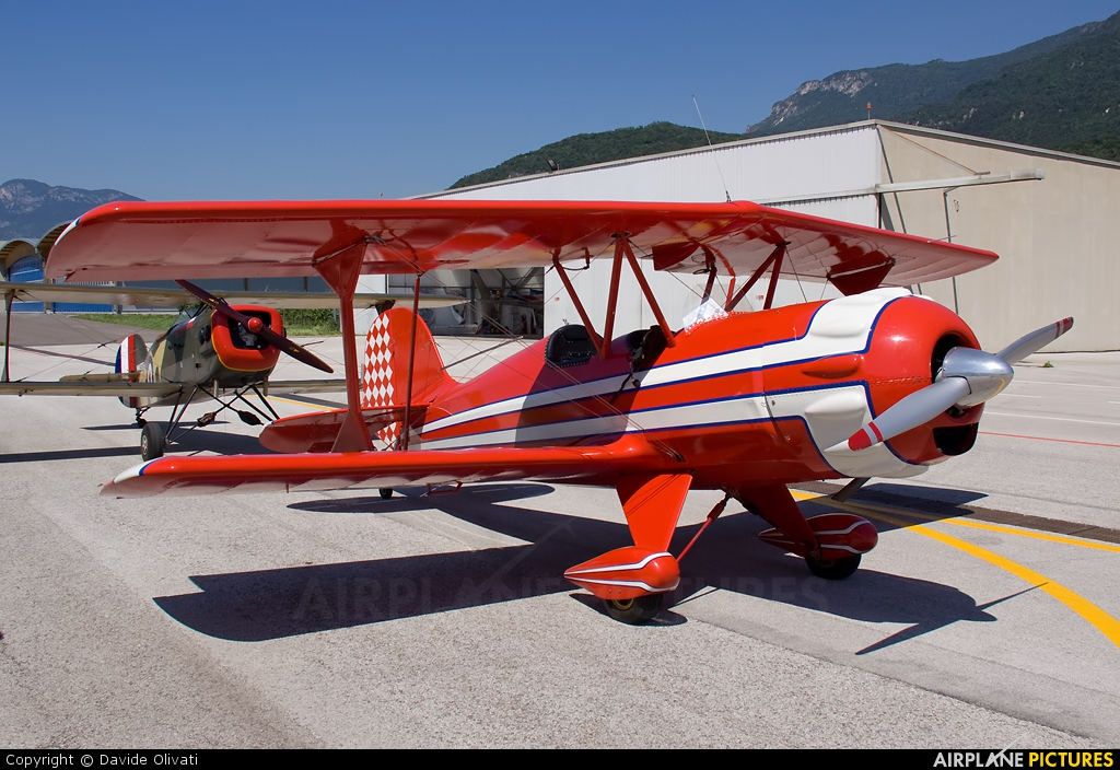 Private I-6051 aircraft at Trento - Mattarello