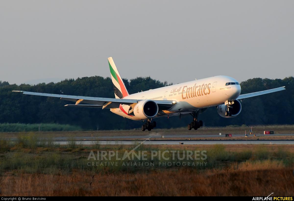 Emirates Airlines A6-EBQ aircraft at Rome - Fiumicino