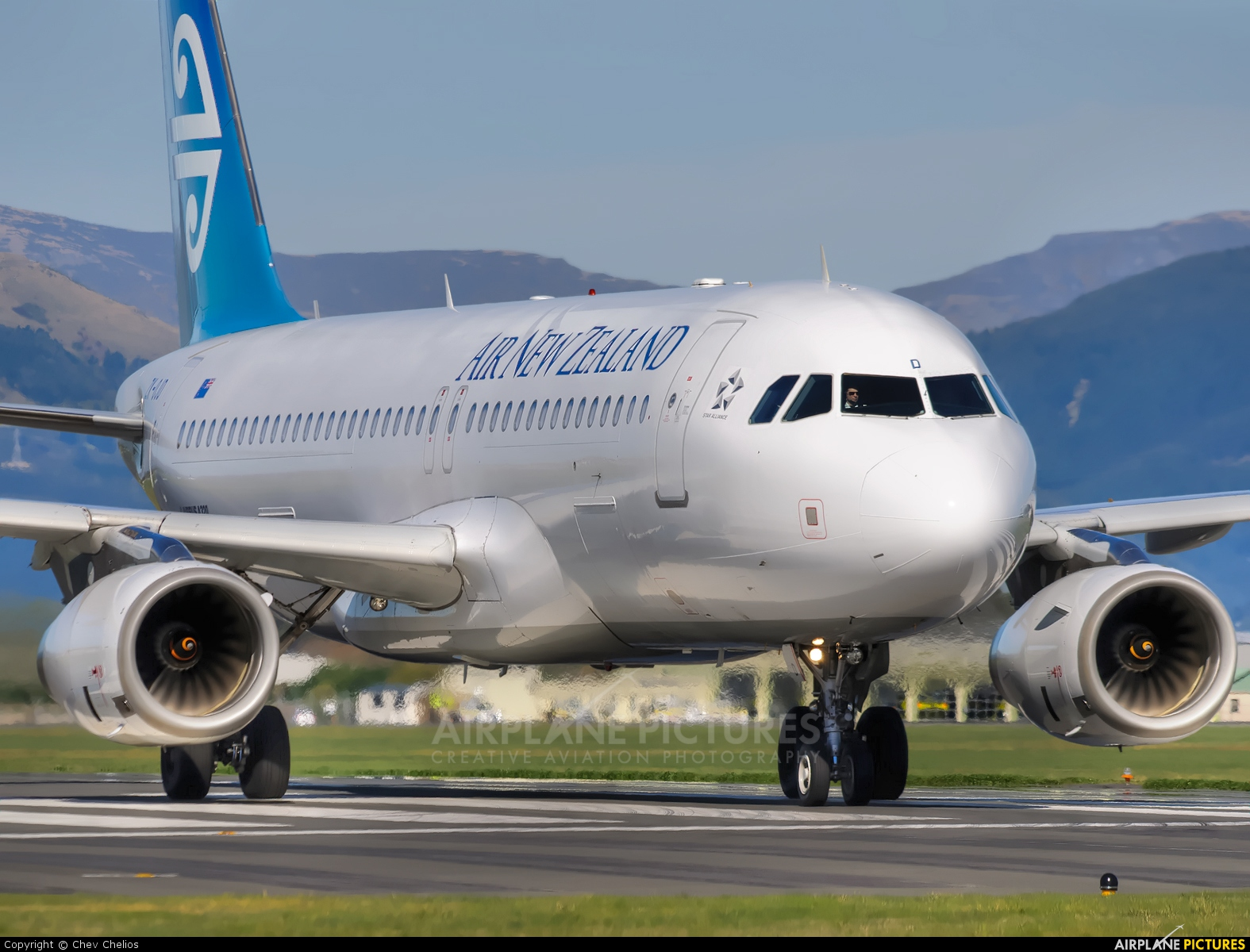Air New Zealand ZK-OJD aircraft at Christchurch Intl