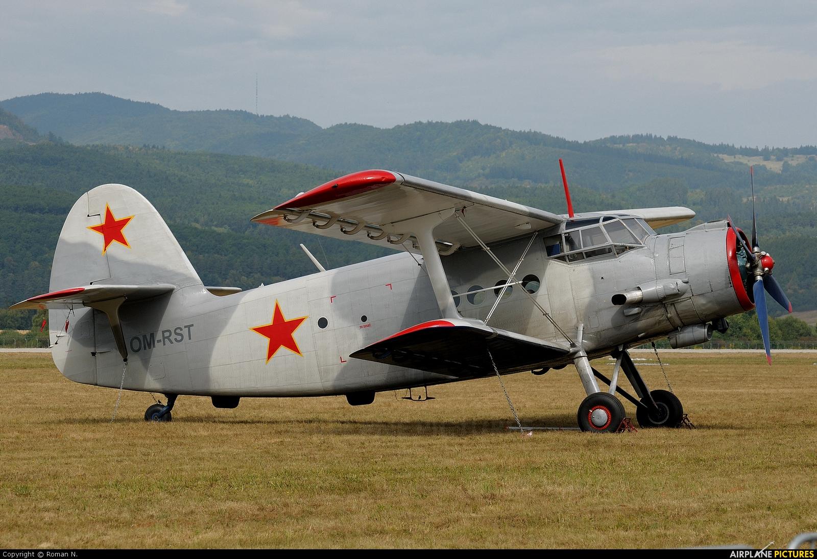 Private OM-RST aircraft at Sliač