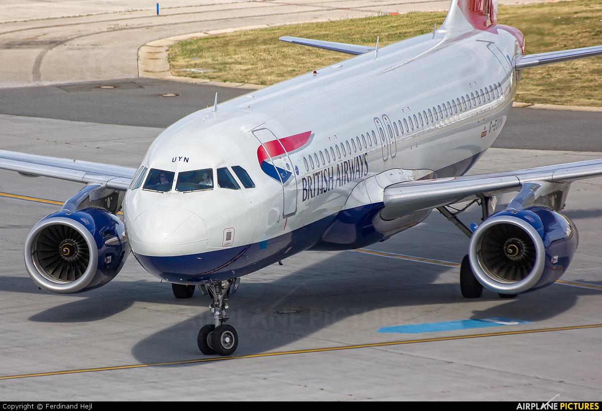 British Airways G-EUYN aircraft at Prague - Václav Havel