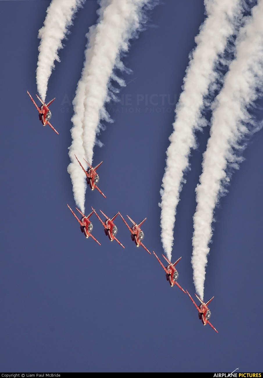 "Royal Air Force ""Red Arrows"" XX322 aircraft at Leuchars"