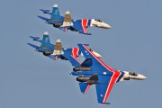 "10 - Russia - Air Force ""Russian Knights"" Sukhoi Su-27 aircraft"