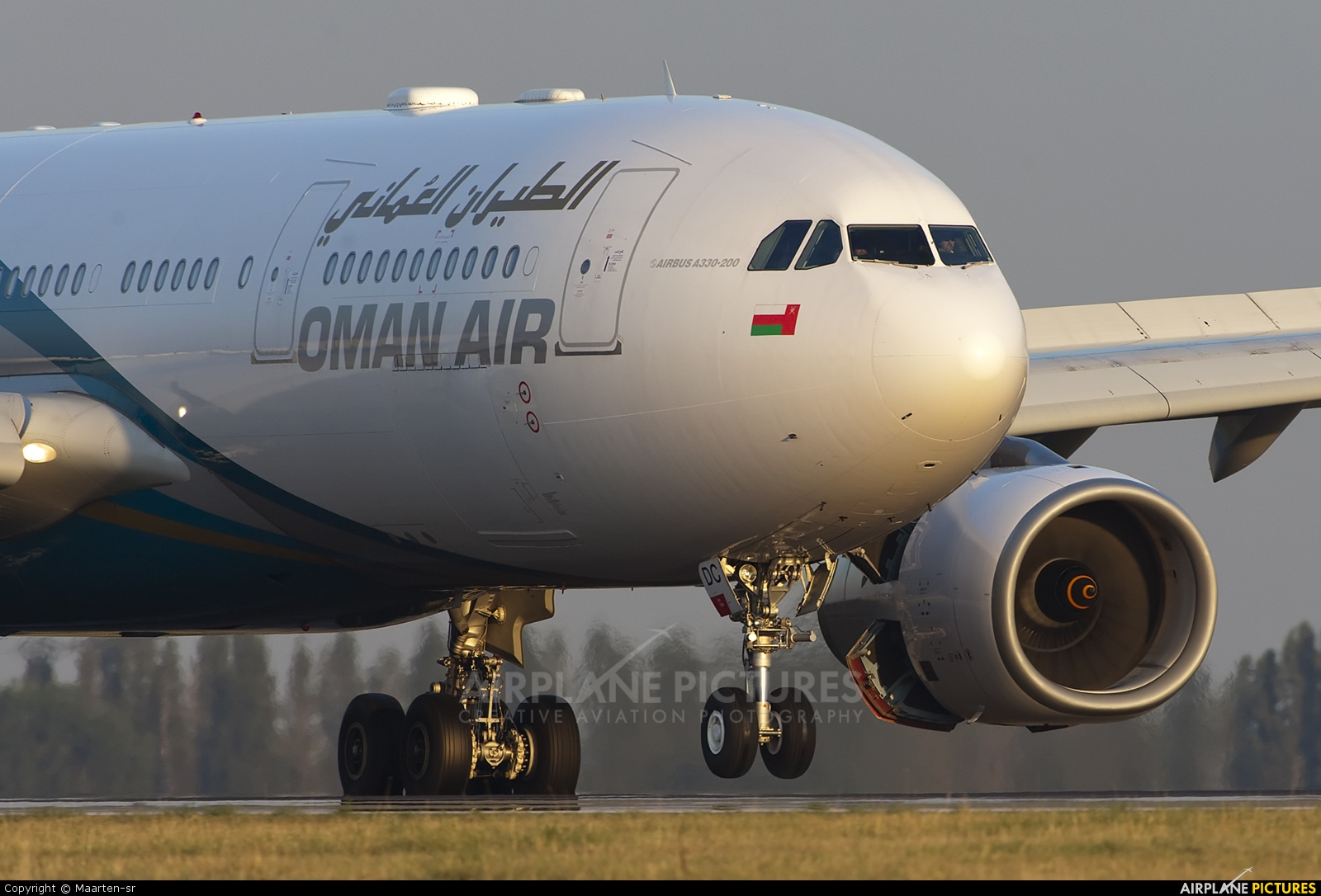 Oman Air A4O-DC aircraft at Paris - Charles de Gaulle