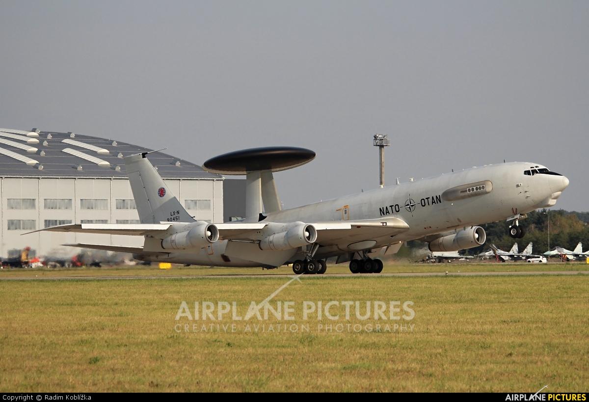 NATO LX-N90451 aircraft at Ostrava Mošnov