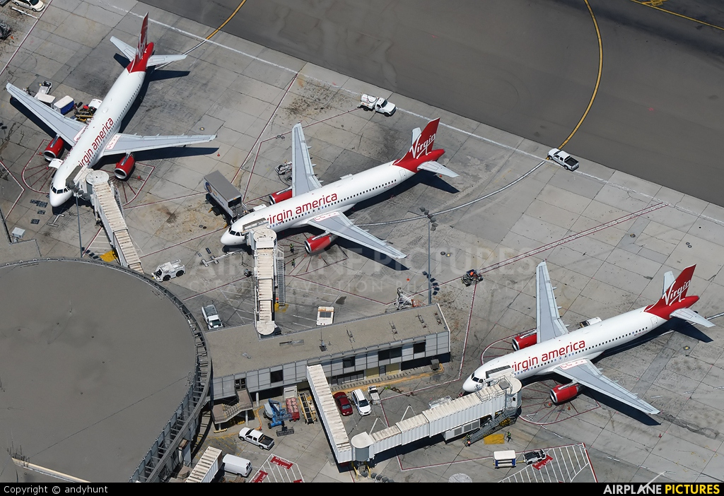 Virgin America N630VA aircraft at Los Angeles Int