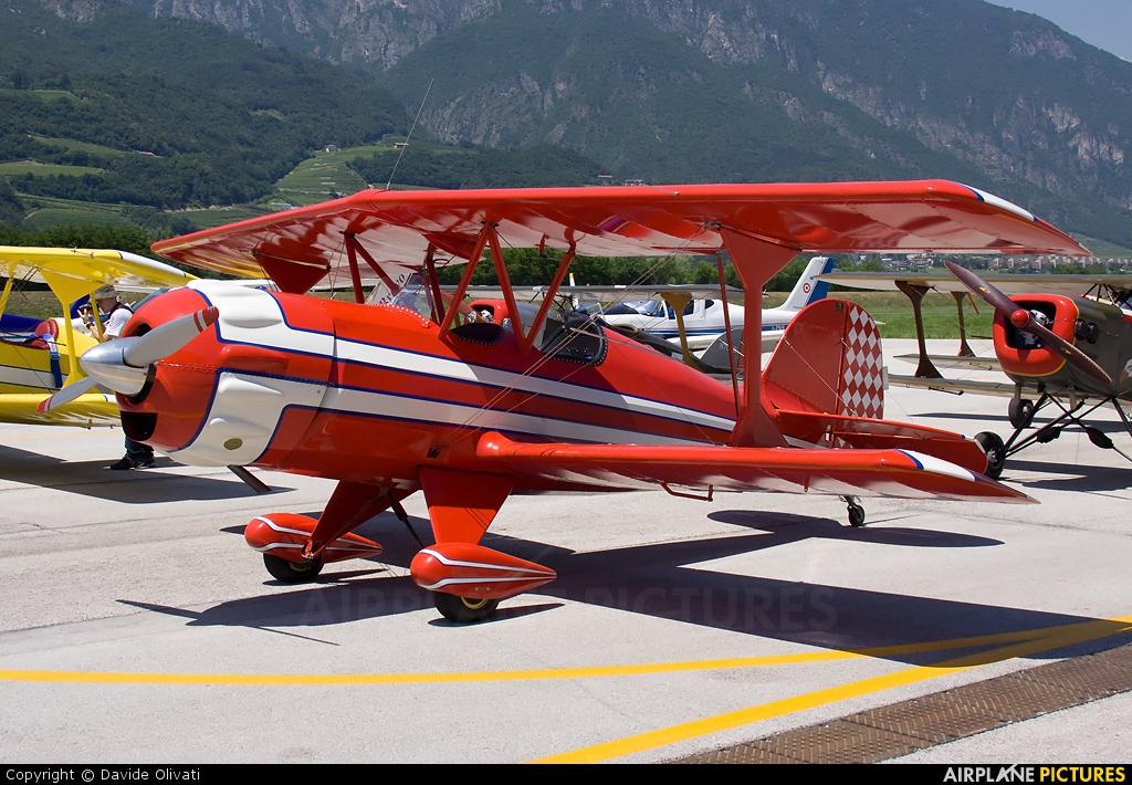 Private I-6051 aircraft at Trento - Mattarello
