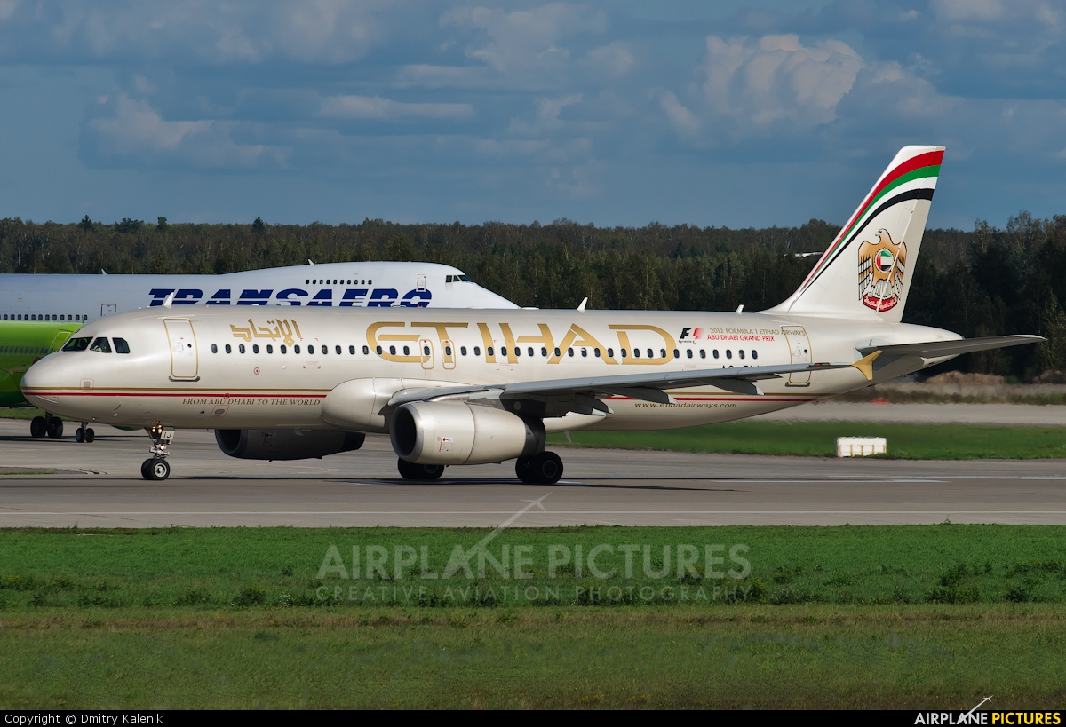 Etihad Airways A6-EIJ aircraft at Moscow - Domodedovo