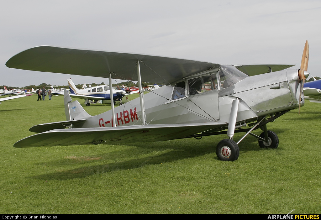 Private G-AHBM aircraft at Northampton / Sywell