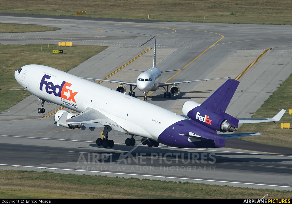 FedEx Federal Express N576FE aircraft at Milan - Malpensa