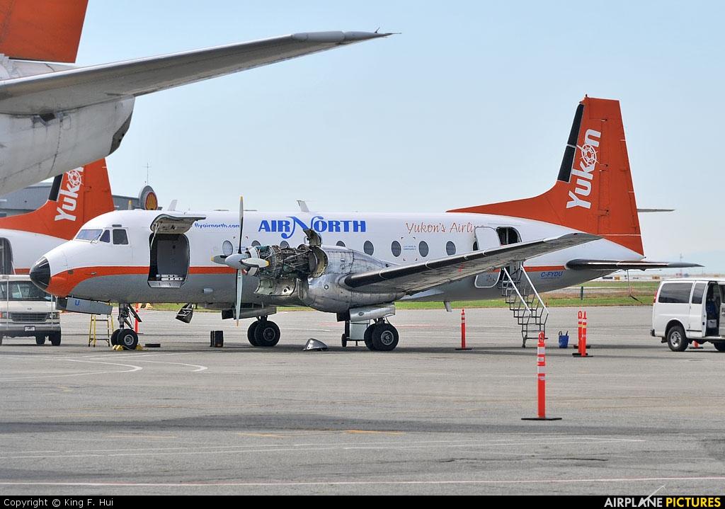 Air North C-FYDU aircraft at Vancouver Intl, BC