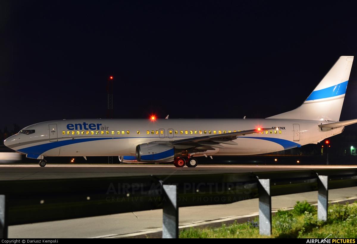 Enter Air SP-ENX aircraft at Łódź - Lublinek