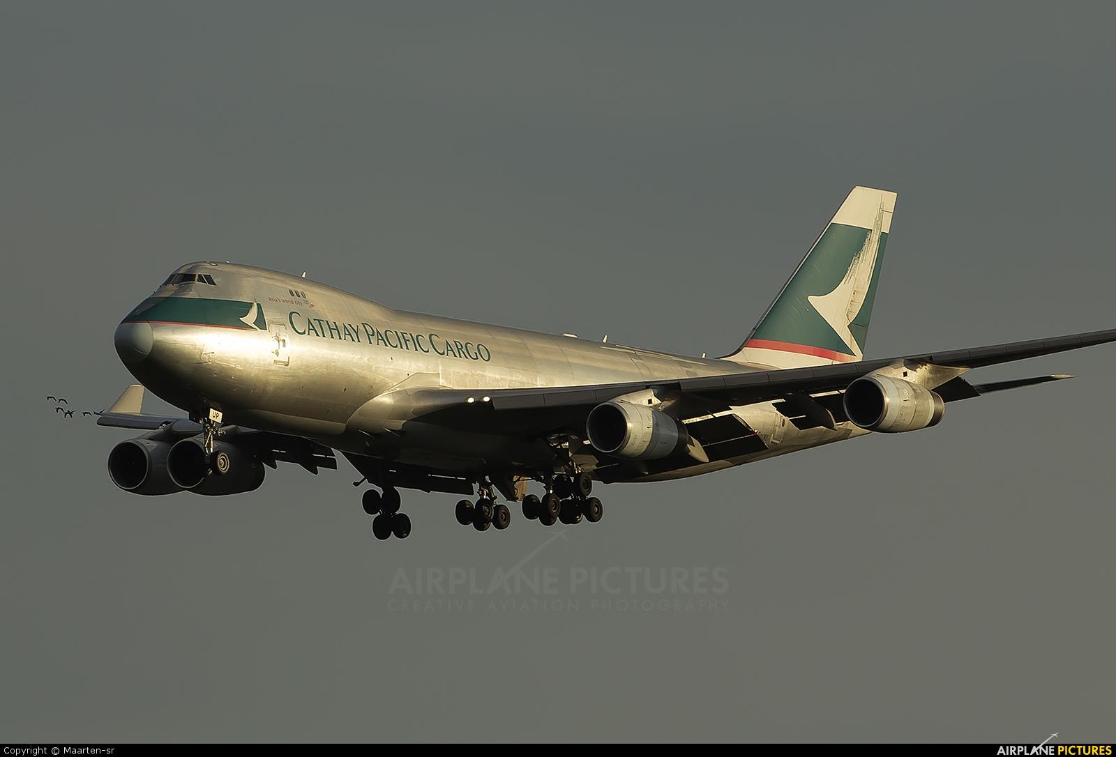 Cathay Pacific Cargo B-HUP aircraft at Amsterdam - Schiphol
