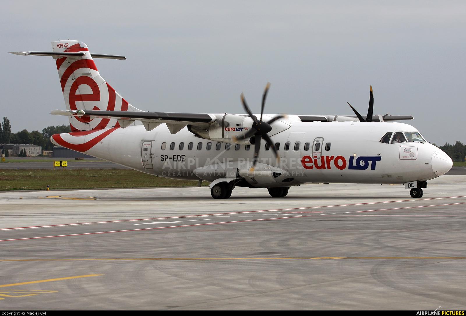euroLOT SP-EDE aircraft at Poznań - Ławica
