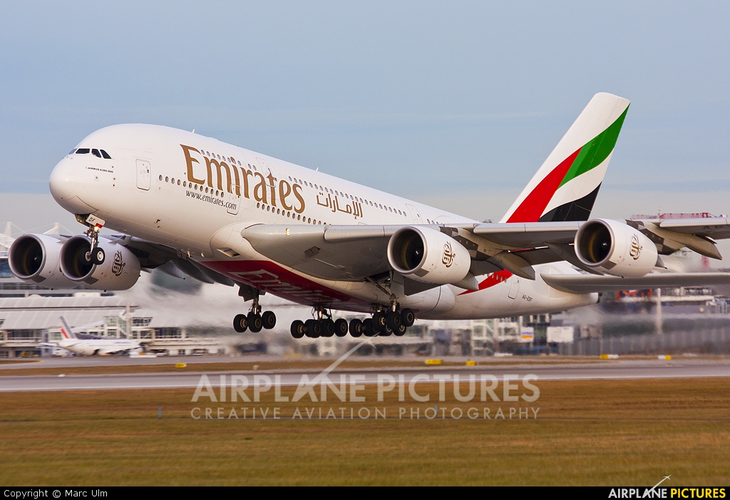 Emirates Airlines A6-EDF aircraft at Munich