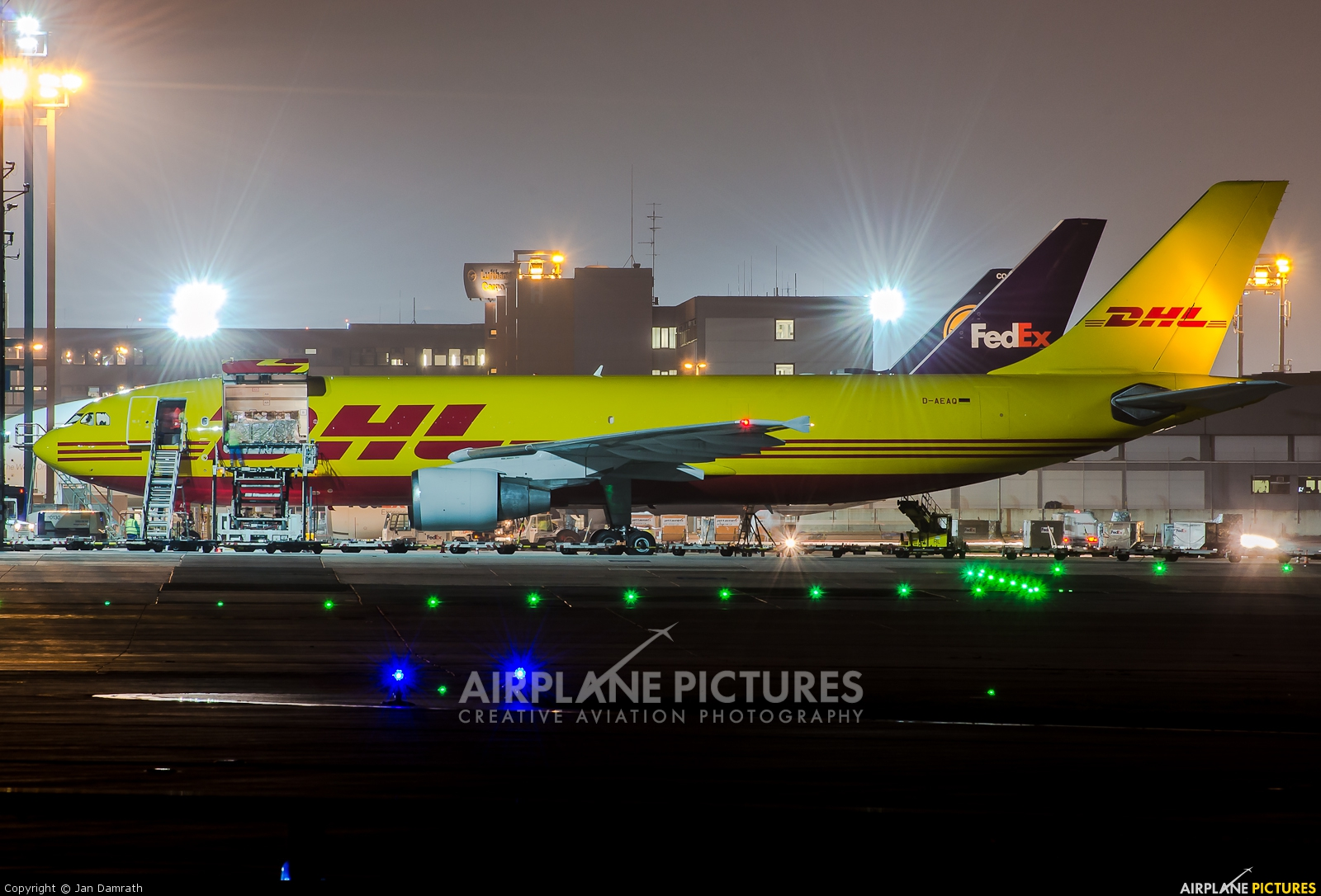 DHL Cargo D-AEAQ aircraft at Frankfurt