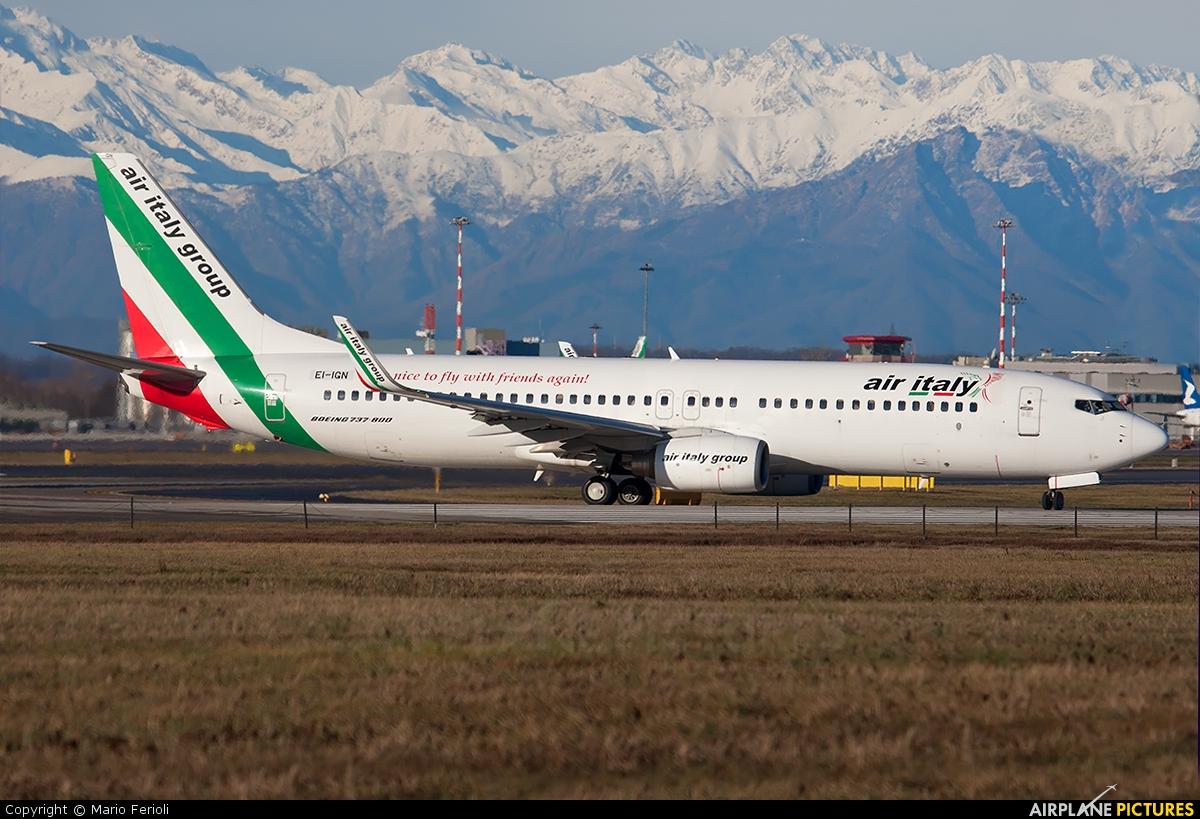 Air Italy EI-IGN aircraft at Milan - Malpensa