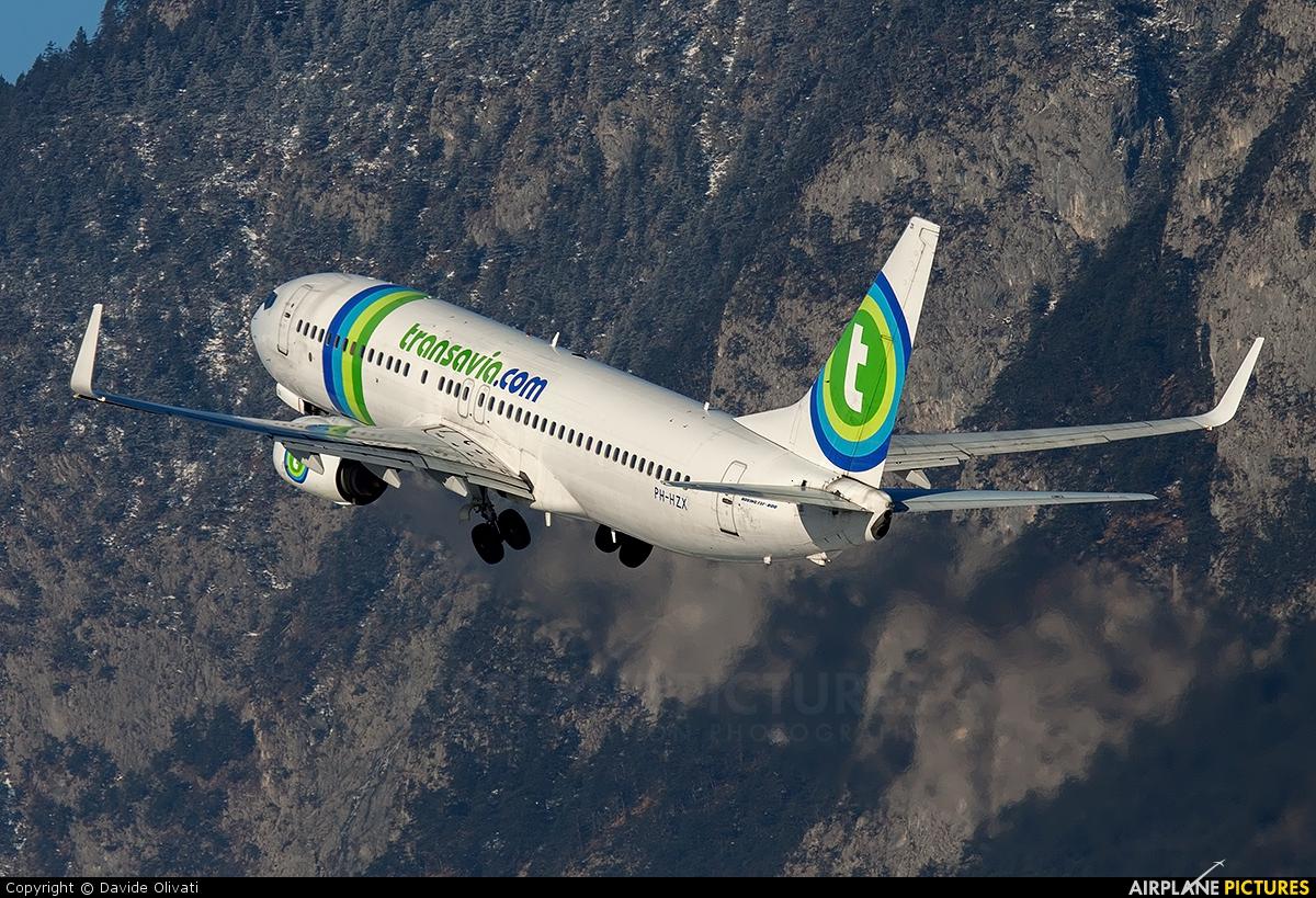 Transavia PH-HZX aircraft at Innsbruck